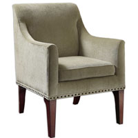 Uttermost Marik Fabric Arm Chair in Dark Walnut 23088 photo thumbnail