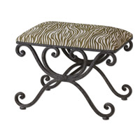 Uttermost Aleara Small Bench in Weathered Wrought Iron 23089