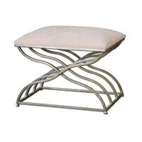 Uttermost Shea Small Bench in Satin Nickel 23091