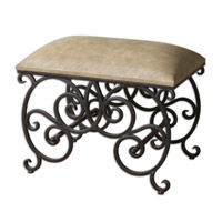 Uttermost Anjali Small Bench in Rusted Bronze 23092