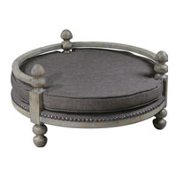 Uttermost 23094 Raesa Weathered Ash Gray Pet Bed thumb