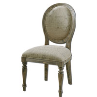 Uttermost Bresselle Armless Chair in Light Tan Wash 23102 photo thumbnail