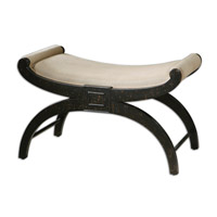Uttermost Corona Bench in Weathered Black 23109