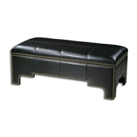 Uttermost Onika Storage Bench in Black Faux Leather 23112