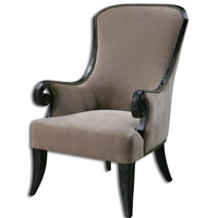 Uttermost Kandy Armchair in Taupe and Black 23113