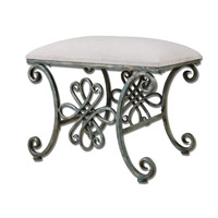 Uttermost Yvanna Small Bench in Oxidized Silver 23118