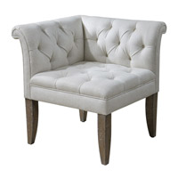 Uttermost 23125 Tahtesa Corner Chair photo thumbnail