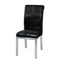 Uttermost Zaidee Accent Chair in Black 23140
