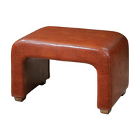 Uttermost Pennie Ottoman in Leather 23143