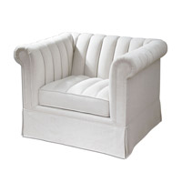 Uttermost Evania Armchair in White 23155