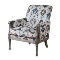 Uttermost Dyani Armchair in Brushed Ikat Pattern 23172