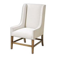 Dalma Linen Wing Chair Home Decor