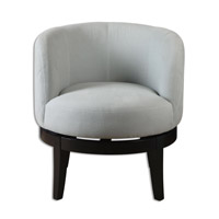 Uttermost Aurick Swivel Chair in Gray 23193