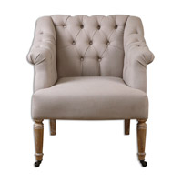 Uttermost Khaldun Arm Chair in Tan Linen 23194
