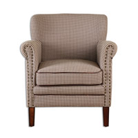Uttermost Tinsley Club Chair in Chocolate Brown 23205