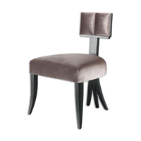 Uttermost Jorja Accent Chair in Satin Black 23219