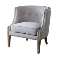 Gamila Light Gray Accent Chair Home Decor