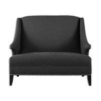 Uttermost Honesta Loveseat in Rubbed Black 23221