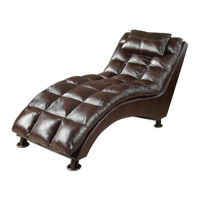 Uttermost Toren Chaise Lounge in Brown Faux Leather 23225