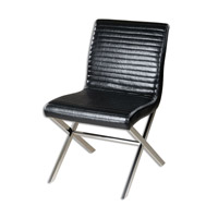 Uttermost Quayn Accent Chair in Black 23227