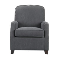 Uttermost Domicia Armchair in Gray Linen 23255
