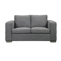 Uttermost Inari Loveseat in Stonewashed Gray 23259