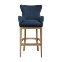 Uttermost Barton Bar Stool in Denim Blue/Whitewash Ash 23317