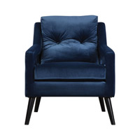 OBrien Blue Velvet Armchair Home Decor
