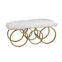 Uttermost Blaine Bench in Plush White Fur 23323