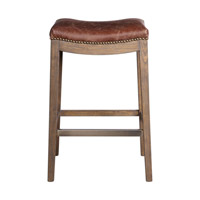 Uttermost 23329 Cochran 30 inch Leather Bar Stool
