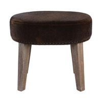 Caballot Chocolate Stool Home Decor, Small, Matthew Williams