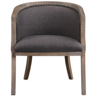 Terrell Dark Flax Chenille and Sandstone with Washed Gray Barrel Chair Home Decor