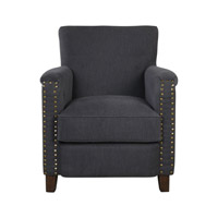 Finchly Deep Gray Arm Chair Home Decor, Jim Parsons