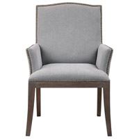 Lantry Stony Gray Fabric with Driftwood and Gray Wash Accent Chair Home Decor