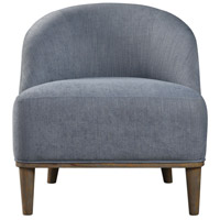 Nerine Silver Blue Linen Fabric and Washed Oak Accent Chair Home Decor