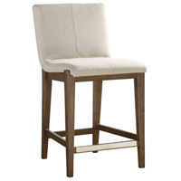 Klemens 39 inch Neutral Linen Fabric with Light Walnut Counter Stool
