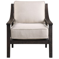 Lyle Neutral Beige Linen Fabric and Rich Walnut Accent Chair Home Decor