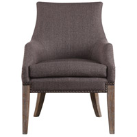 Karson Taupe Gray Linen and Sandstone with Gray Wash Accent Chair Home Decor