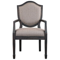 Jenkins Woven Flax and Rich Charcoal with Light Gray Armchair Home Decor
