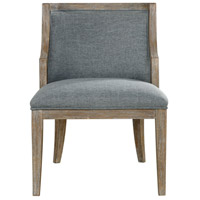 Galloway Steel Blue and Rustic Oak with Light Tan Wash Accent Chair Home Decor