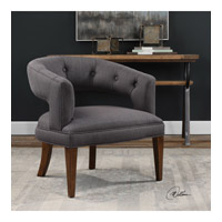 Ridley Charcoal Slubbed Linen Accent Chair Home Decor