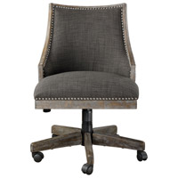 Uttermost 23431 Aidrian Warm Charcoal Gray with Honey Stained Gray Wash Desk Chair