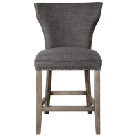Arnaud 40 inch Warm Charcoal Gray with Honey Stained Gray Wash Counter Stool
