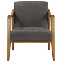 Degory Honey Stain and Taupe Brown Accent Chair