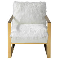 Delphine White with Gold Accent Chair Home Decor