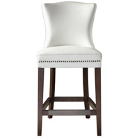 Uttermost 23443 Dariela 41 inch Cream White with Rich Dark Walnut Stain Counter Stool