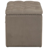 Uttermost 23455 Talullah 19 inch Champagne Velvet and Polished Nickel Storage Ottoman 23455_A.jpg thumb