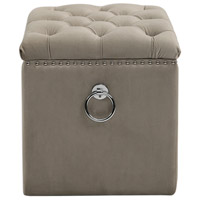 Uttermost 23455 Talullah 19 inch Champagne Velvet and Polished Nickel Storage Ottoman 23455_A1.jpg thumb