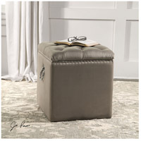 Uttermost 23455 Talullah 19 inch Champagne Velvet and Polished Nickel Storage Ottoman 23455_Lifestyle.jpg thumb