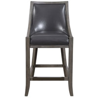 Elowen 39 inch Steel Gray and Weathered Charcoal Brown Counter Stool
